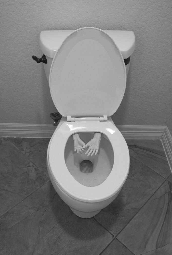 Create a creepy toilet prank to surprise your family and friends with this April Fool's Day. It would also be perfect for Halloween!
