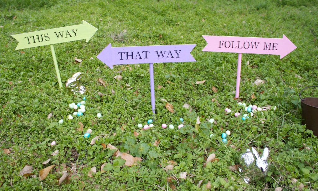 Easter Egg Hunt Signs