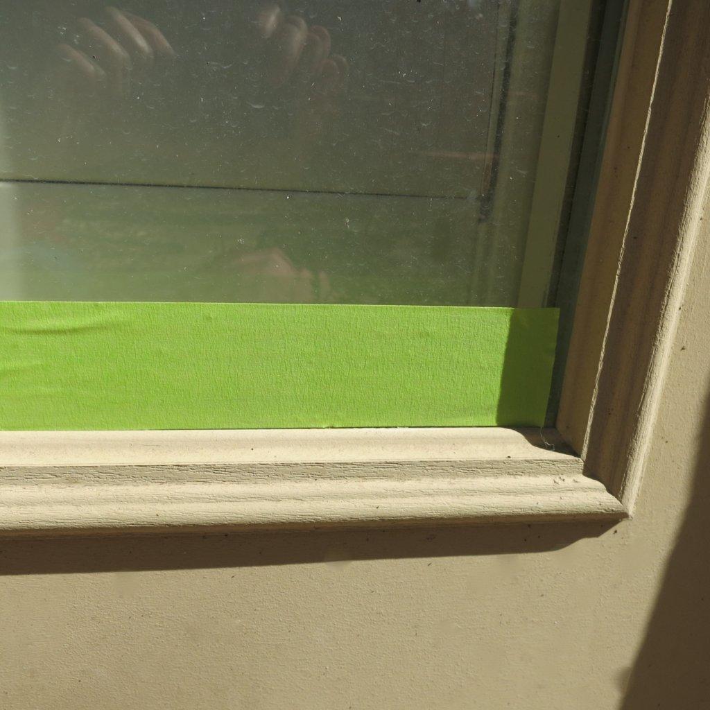 Patio Door Refresh:  Mid Century Modern Orange Makeover
