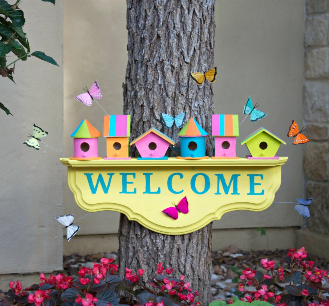 Birdhouse Welcome Sign Home Decor DIY