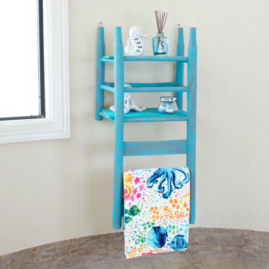 Chair Shelf Tutorial: Bathroom Decor to DIY - Morena\'s Corner