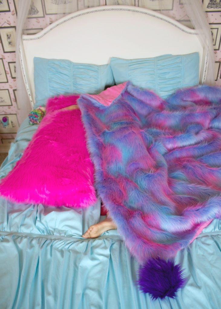 Faux fur body pillow