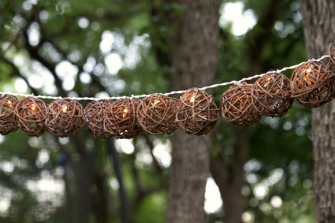 These grapevine ball string lights make beautiful, natural looking party lights for an outdoor party. You can also use the strand to decorate a table, or pile them into a glass container to create a centerpiece. Have fun crafting and creating lighting decor for your next event!