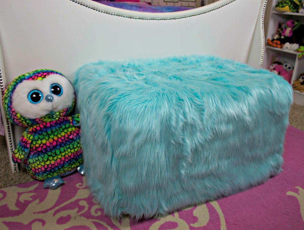 Transform an outdated ottoman from Goodwill San Antonio into a fun piece of dorm decor in under one hour!