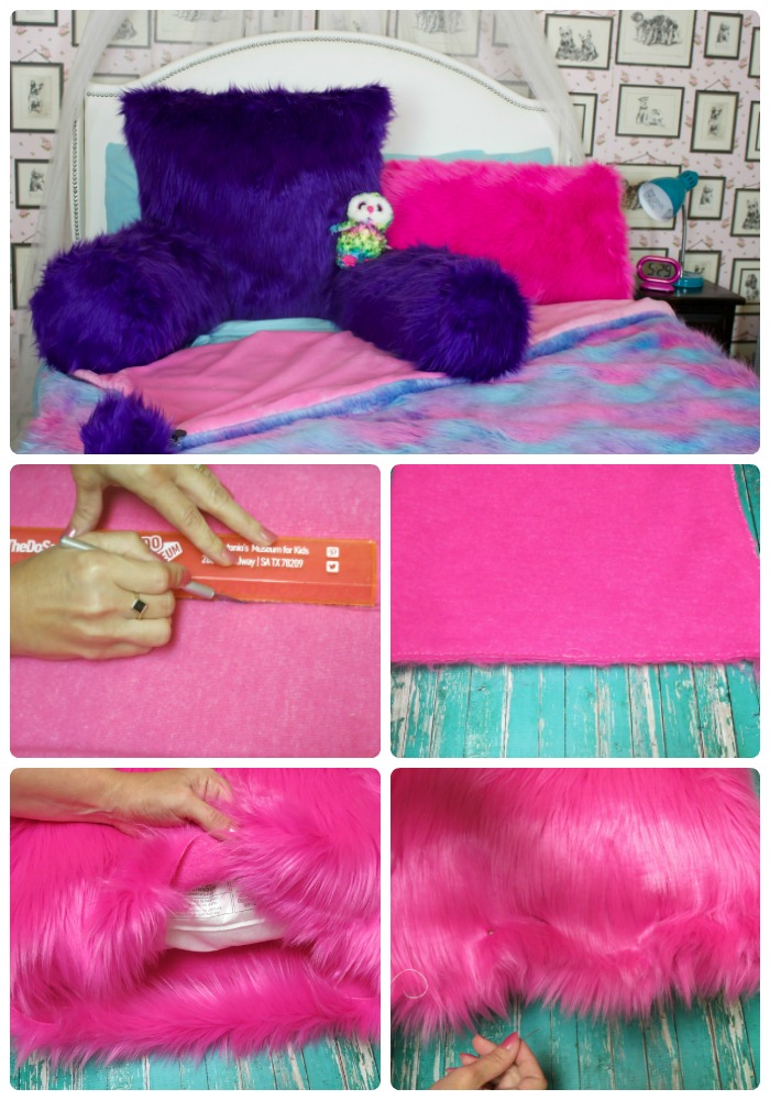 Faux Fur Reading Pillow and Throw Pattern & Tutorial