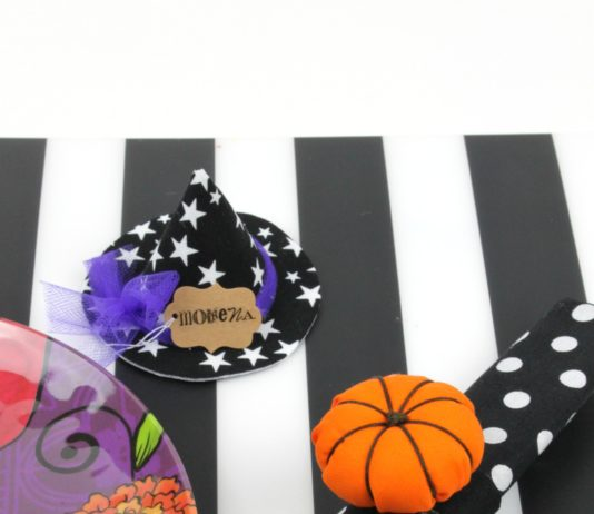 Learn how to add some fun Halloween and fall table decor to your place setting!