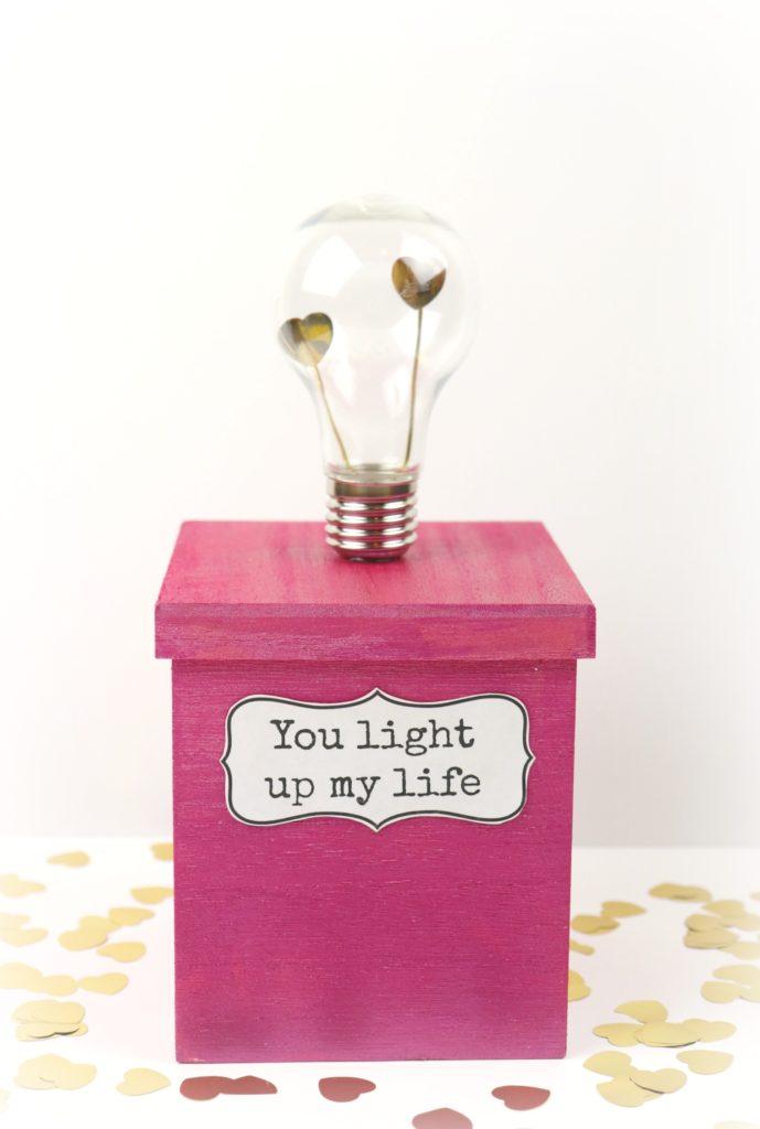 valentine light bulb gift box