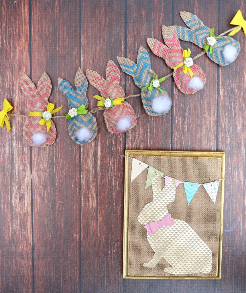 This cheery, colorful Easter bunny banner is a fun way to welcome spring! Decorate your mantle or any other space in your home with this fun project.