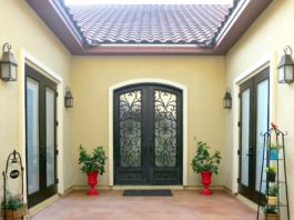 Paint doors with Curb Appeal paint from DecoArt to give your front porch a makeover.