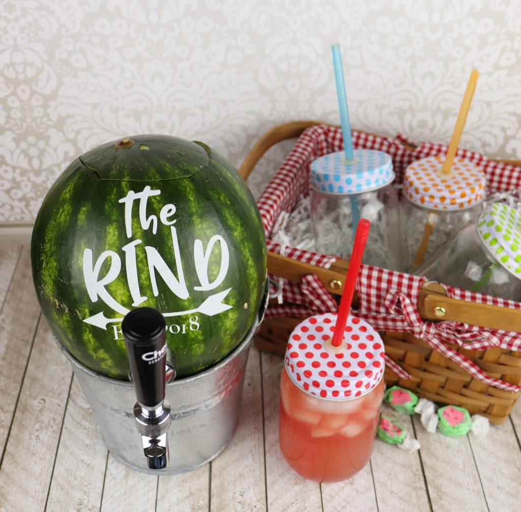 Create a unique drink dispenser and make a watermelon tap