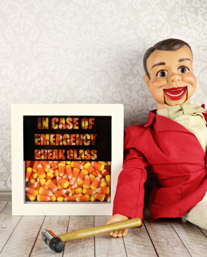 Break Glass in Case of Emergency candy decor tutorial with a free printable