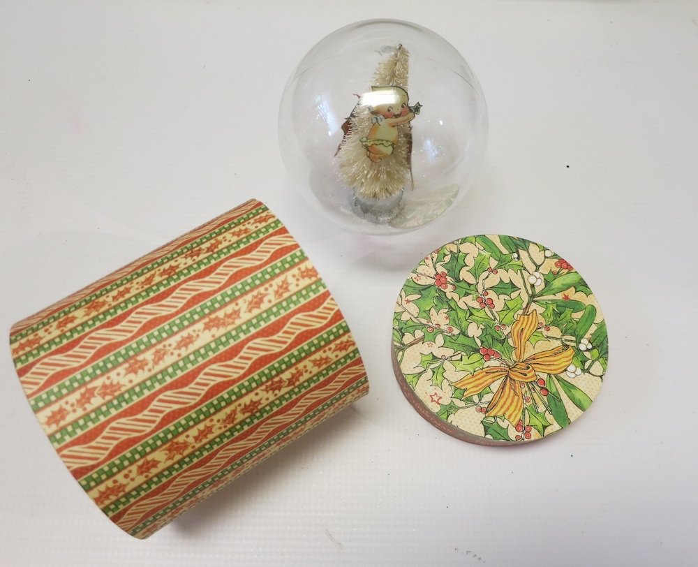 Make a beautiful snow globe gift box for the holidays