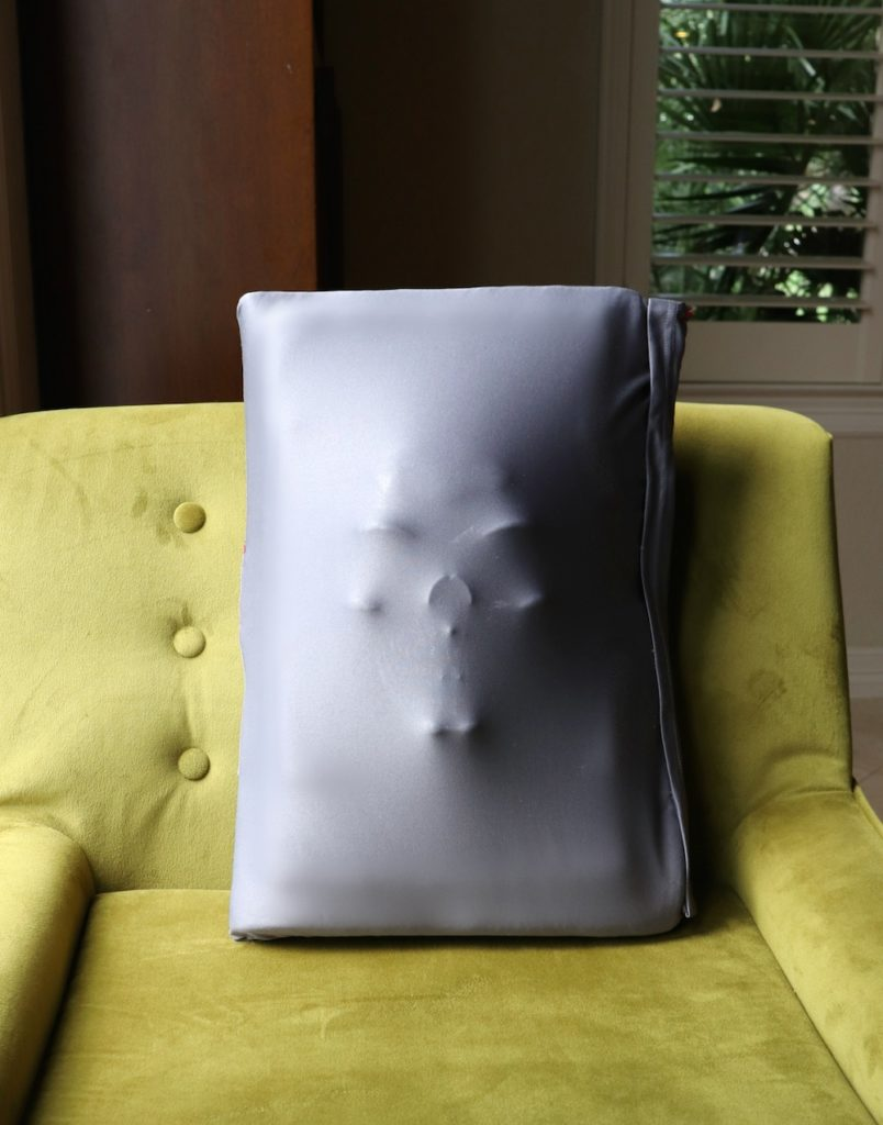 Make a monster face pillow in under an hour using inexpensive thrift store finds from Goodwill San Antonio. This creepy decor is fun to make.