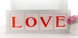 LOVE Window Sign Decor DIY for Valentine's Day