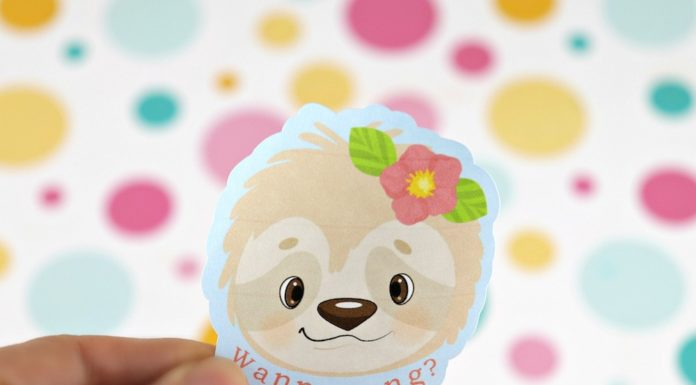 Sloth Stickers Free Printable and Cut File
