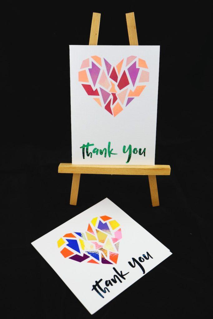 DIY Foil Cards Made Using Opal Vinyl