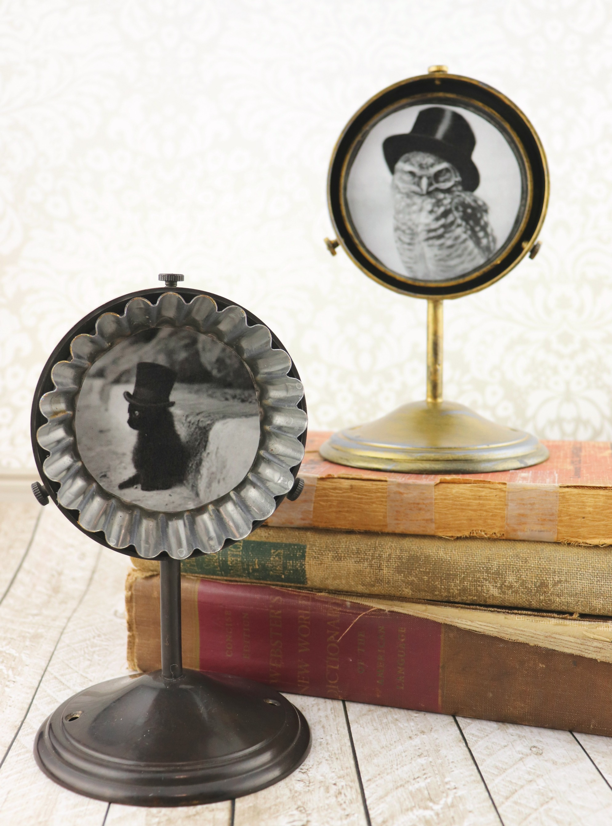 Make upcycled frames and unique photo holders to decorate with.