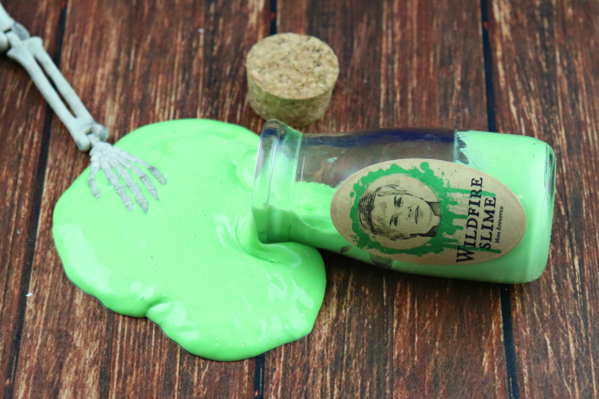 Glow in the dark slime is perfect for making Wildfire props for your Game of Thrones party.